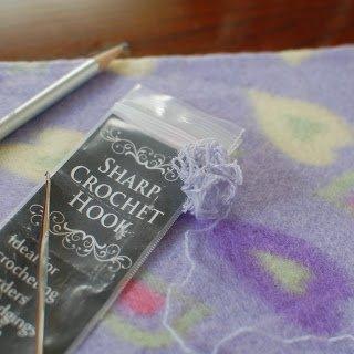 Blanket Stitch for Crochet Border - Step 1 | www.petalstopicots.com