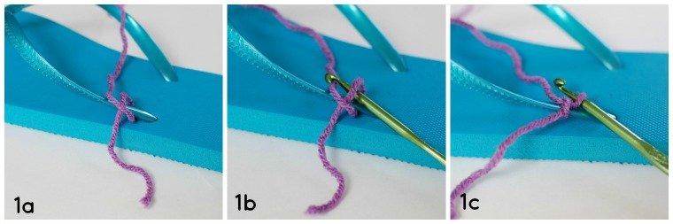 Step 1 - Crochet Flip Flops Tutorial | www.petalstopicots.com