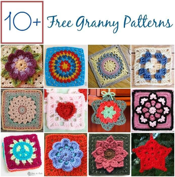 10 Free Granny Square Patterns