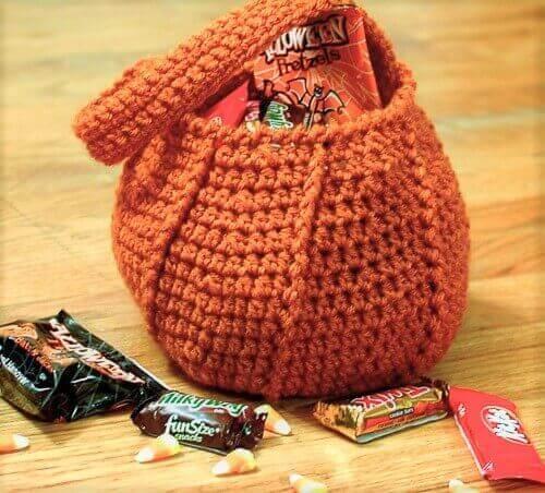 Pumpkin Trick or Treat Bag Crochet Pattern