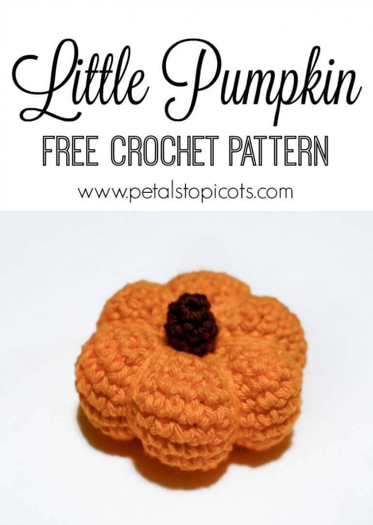 Free Little Pumpkin Crochet Pattern | www.petalstopicots.com