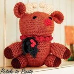 Rudolph the Red Nosed Crochet Reindeer