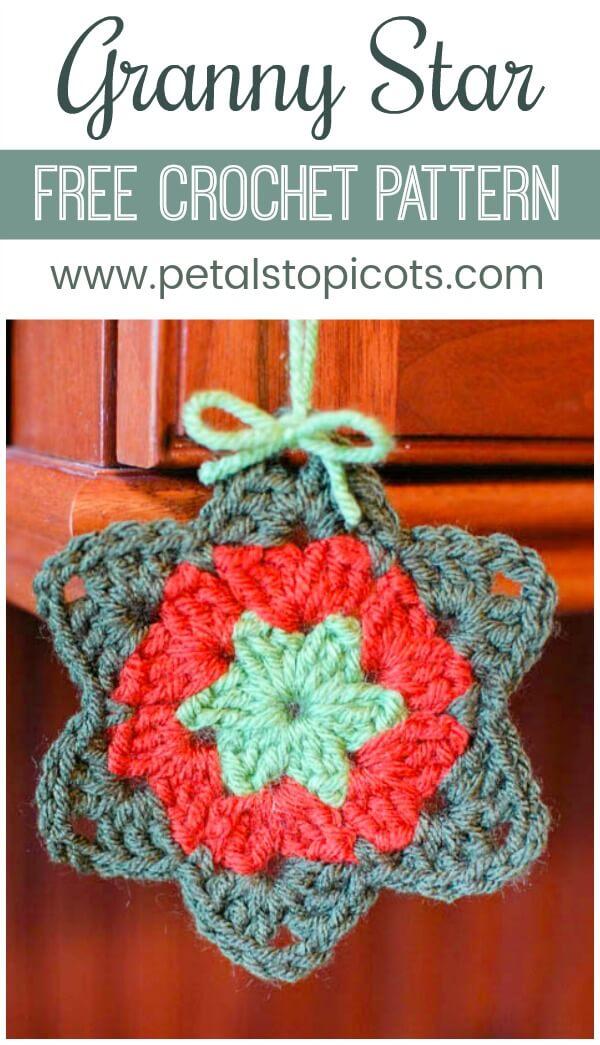 Granny Star Crochet Pattern