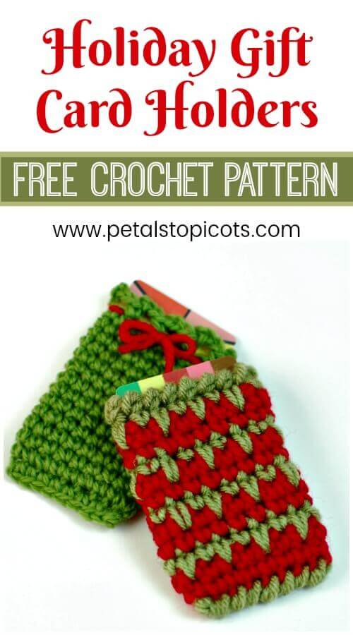 Holiday Gift Card Holder Crochet Patterns