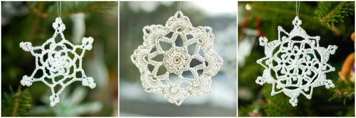 free crochet snowflake patterns