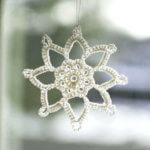 Grandma Jennies crochet snowflake pattern - 1