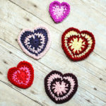 Spike Stitch Crochet Heart Pattern