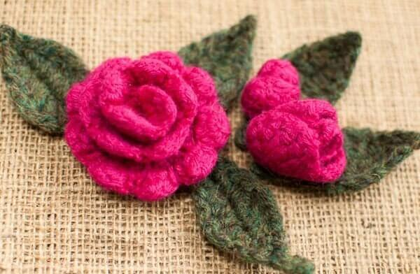 crochet rose pattern