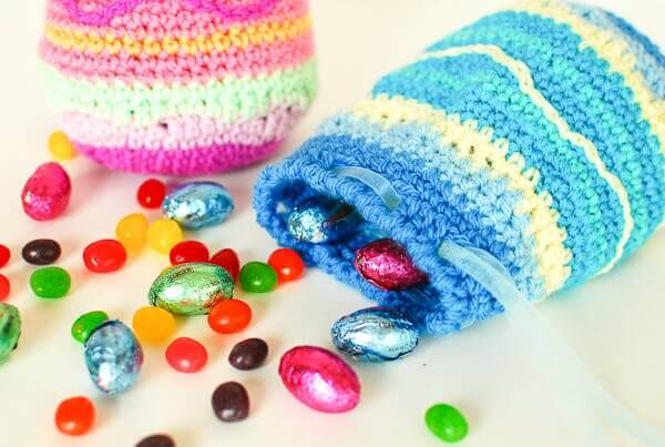 Easter Egg Crochet Treat Bags Pattern
