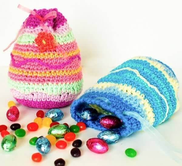 Easter Egg Treat Bags Crochet Pattern