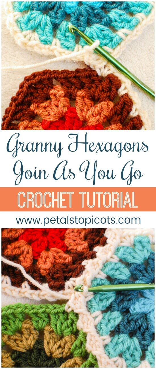 Joining Crochet Hexagons With the Crochet Join As You Go Method