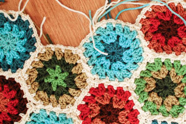 Free Crochet Pattern Octagon Motif : Crochet Crochet Hexagon Pattern - Join As You Go
