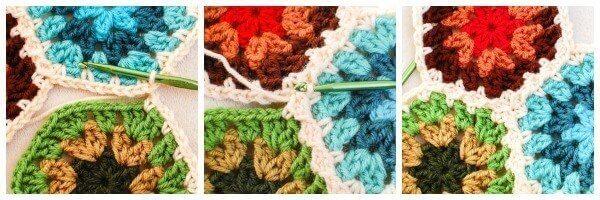 Crochet Join As You Go JAYGO Method | www.petalstopicots.com