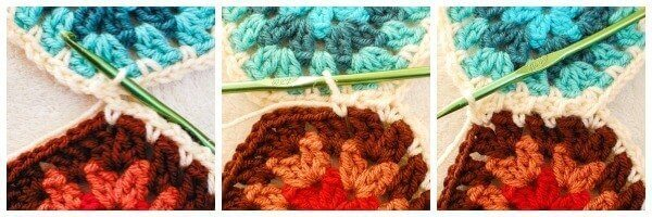 Join as you go crochet hexagons