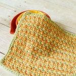 Three Color Simple Stitch Dishcloth