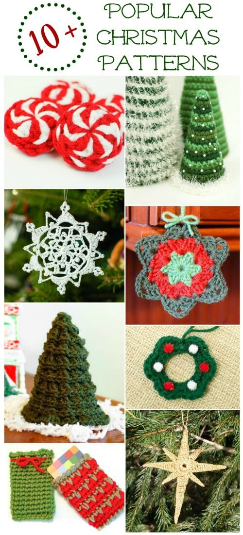 Free Crochet Christmas Crochet Patterns : 10+ Popular Free Christmas Crochet Patterns - Petals to Picots