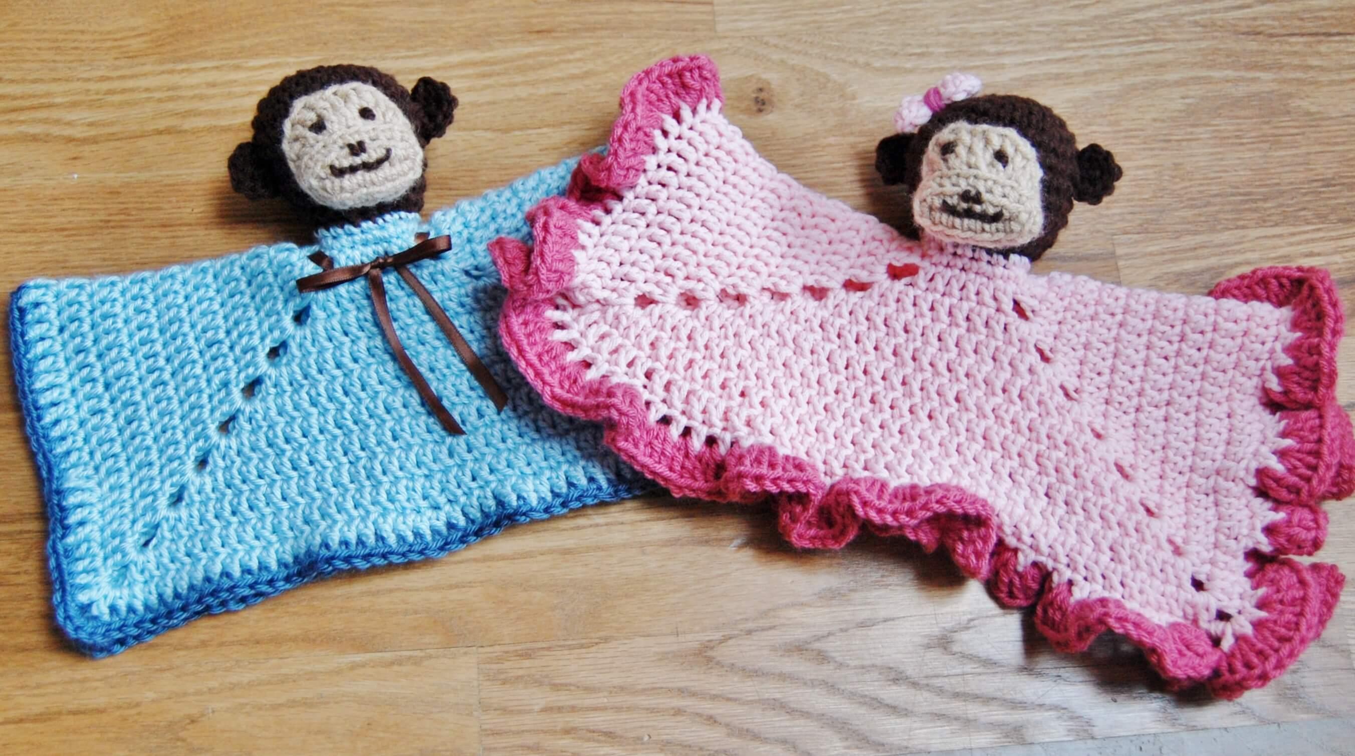 Monkey Crochet Lovey Pattern - Petals to Picots