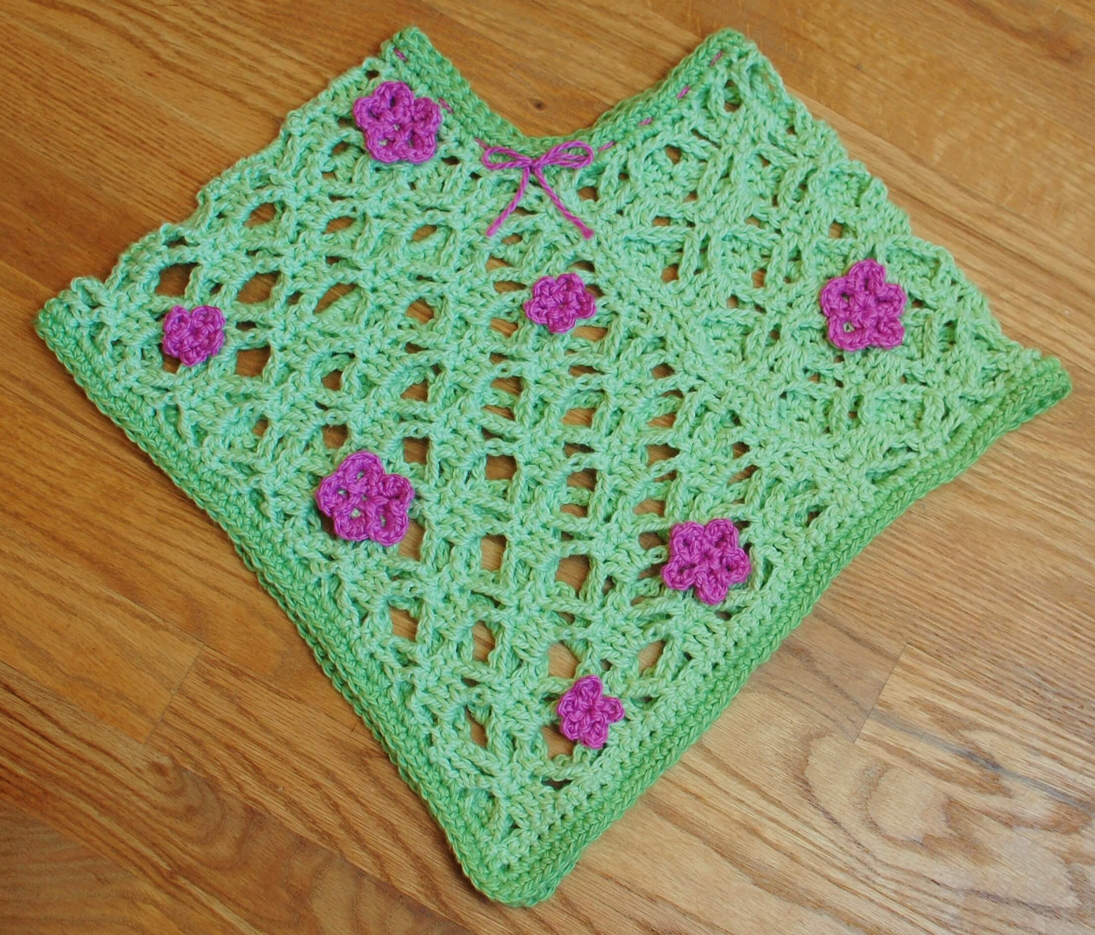 Spring Flowers Crochet Poncho Pattern - Petals to Picots