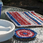 Plarn Placemat and Coaster Crochet Pattern