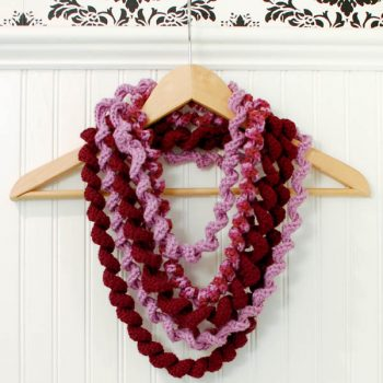 Spiral Loop Scarf Crochet Pattern - Petals to Picots