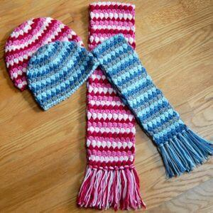 Mod Hat and Scarf Crochet Patterns