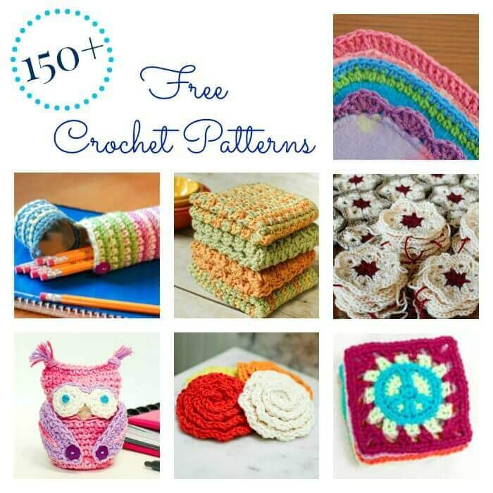 Over 150 free crochet patterns ... and counting! | www.petalstopicots.com | #crochet #patterns