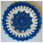 Crochet Embellished Decorative Plates