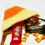 candy corn treat bag crochet pattern