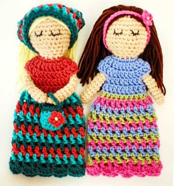 Customizable Doll Crochet Pattern Petals To Picots
