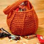 Crochet Pumpkin Trick or Treat Bag