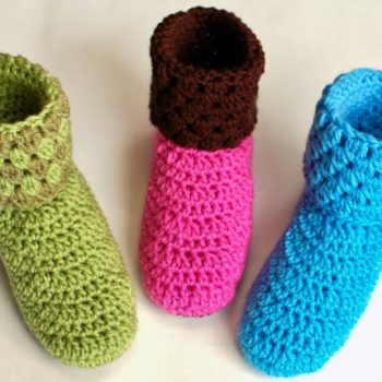 crochet slipper booties pattern (1 of 5)