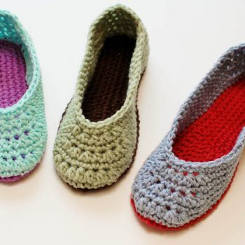 crochet slipper pattern (1 of 5)