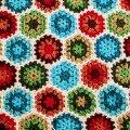 Granny Hexagon Afghan