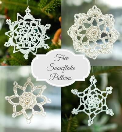 snowflakes collage
