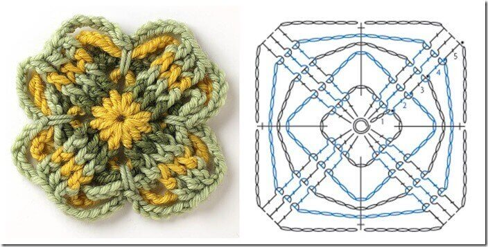 Free Motif Crochet Pattern from Connect the Shapes