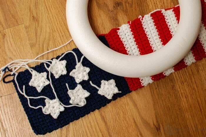 American Flag Wreath Crochet Pattern