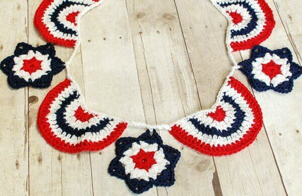 0823a8fde7585c Star Spangled Banner Crochet Bunting