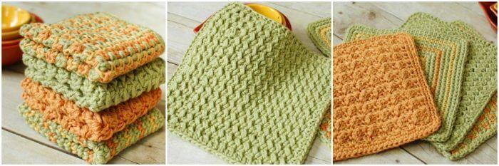 Free crochet dishcloth patterns | www.petalstopicots.com | #crochet #dishcloth #pattern #kitchen
