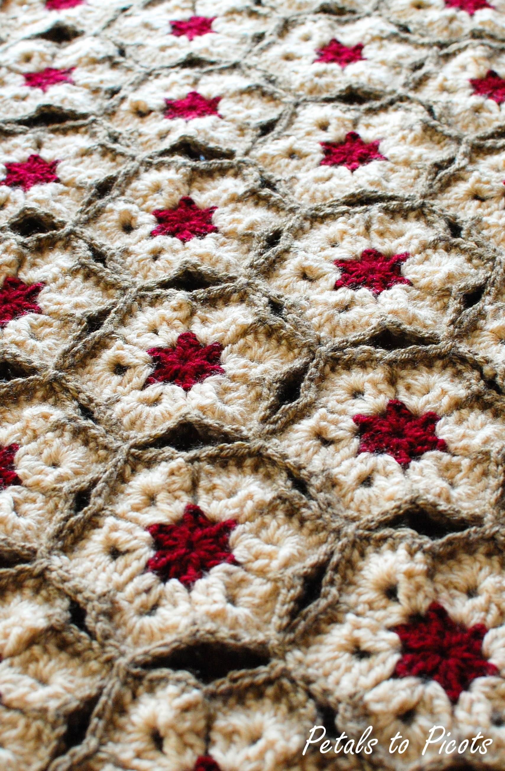 African Flower Crochet Afghan Pattern Free