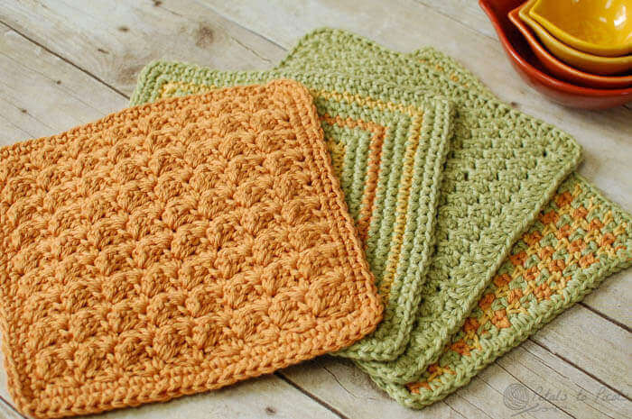 Dishcloth , Seeing Squares Dishcloth , Crunchy Stitch Dishcloth ...