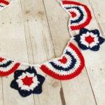 Stars Spangled Crochet Bunting