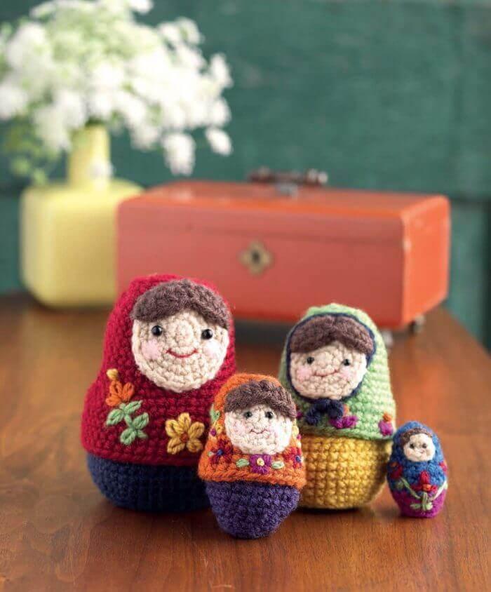 Crochet at Home - Stitchy Nesting Dolls beauty shot