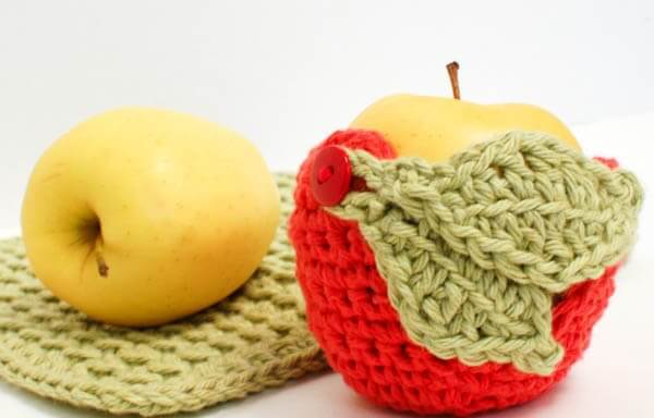 crochet apple cozy pattern