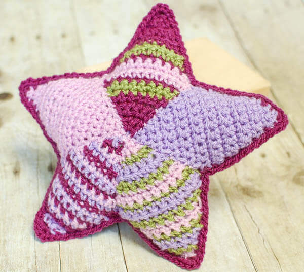 Patchwork crochet star pattern and tutorial