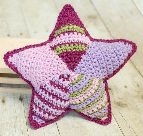 Patchwork crochet star pattern