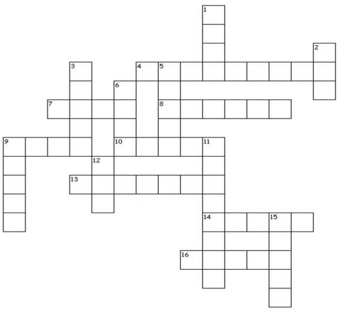 Crochet crossword