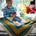 Join in the Lion Brand Little Boy Blue Blanket Crochet Along!