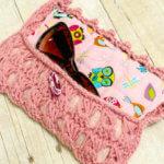 Broomstick Lace Sunglass Case