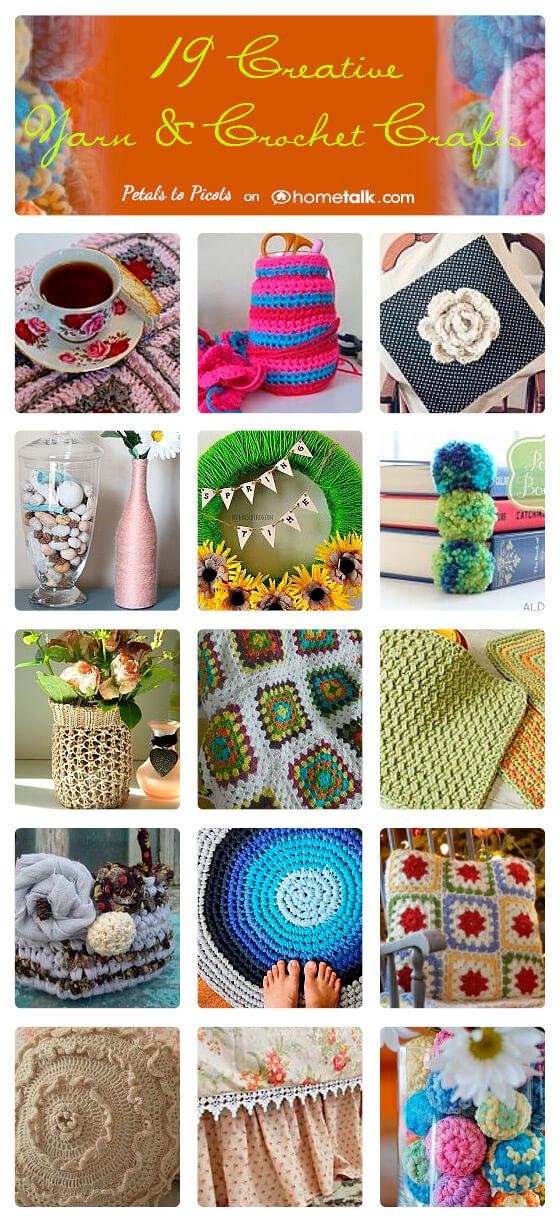 19 Creative Yarn & Crochet Crafts