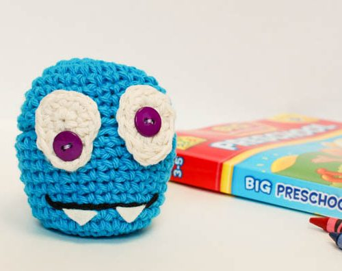 crochet monster cozy